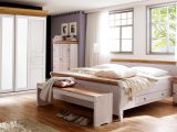Schlafzimmer Oslo 4 Tlg Set Kiefer Massiv Wei Antik Mit Schweber throughout size 1500 X 844